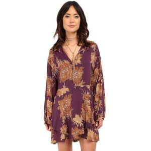 NWT Free People Berry Shake It Casual Dress XS